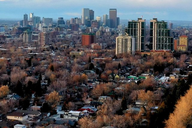 Aerial Photography Of Colorado - Downtown Denver February 28, 2019 From Wash Park & Smith Lake