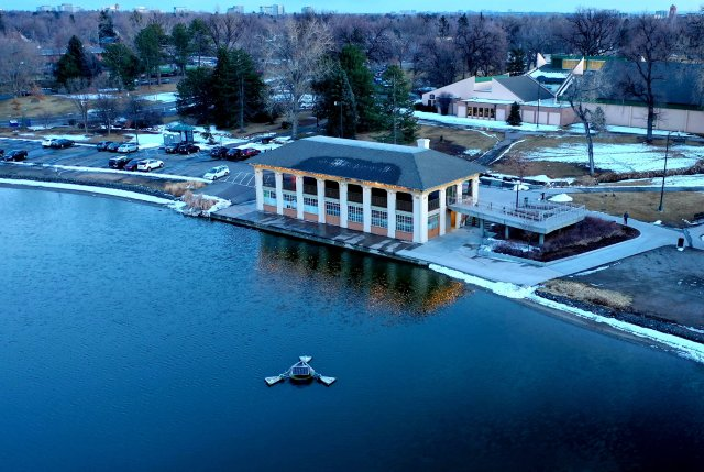 Aerial Photography Of Colorado - The Boat House February 28, 2019 From Wash Park & Smith Lake
