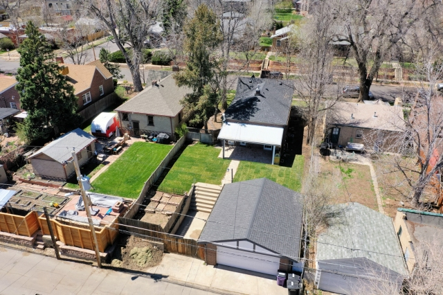 Aerial Photography West Highland Neighborhood Denver April 19th, 2019